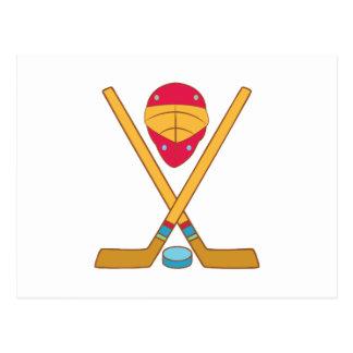 Hockey Equipment Post Cards