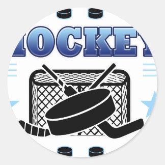 Hockey Fan Classic Round Sticker