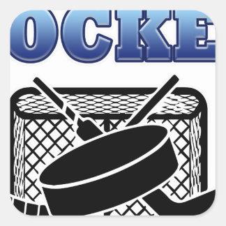 Hockey Fan Square Sticker