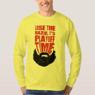 Hockey Football Baseball Play-Off Beard T-Shirt