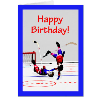 Hockey Game Birthday Cards