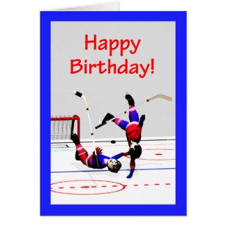 Hockey Game Birthday Greeting Card