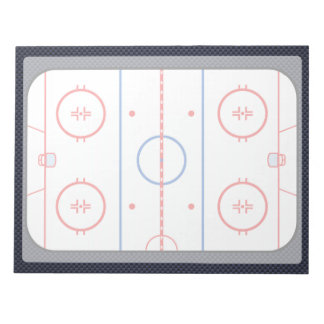 Hockey Game Companion Carbon Fiber Style Notepads
