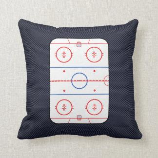 Hockey Game Companion Carbon Fiber Style Throw Pillow