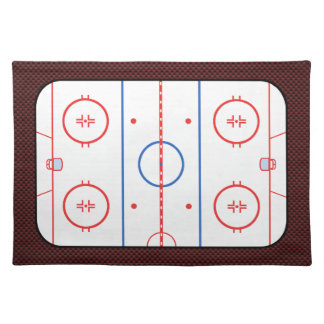 Hockey Game Companion Rink Diagram Placemat
