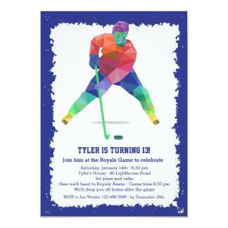 "Hockey Geometrics 5"" X 7"" Invitation Card"
