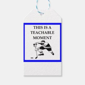 hockey gift tags
