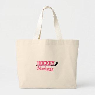Hockey Girls Rule Large Tote Bag