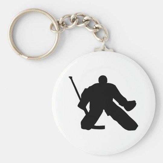 Hockey - Goalie Basic Round Button Keychain