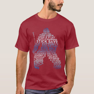 Hockey Goalie Calligram T-Shirt