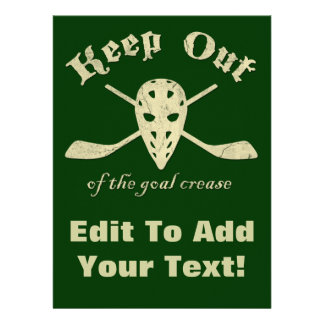 Hockey Goalie Goal Crease Personalized Announcements