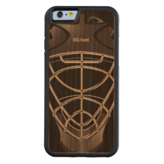 Hockey Goalie Helmet Carved Cherry iPhone 6 Bumper Case