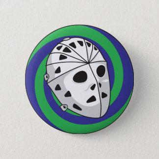 hockey goalie mask 2 inch round button
