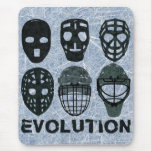 Hockey Goalie Mask Evolution Mousepad