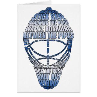 Hockey Goalie Mask Greeting Cards