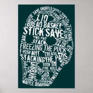 Hockey Goalie Mask Typography Poster