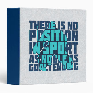 Hockey Goalie Noble Quote Folder Vinyl Binders