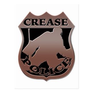 Hockey Goalie Police Badge Postcard