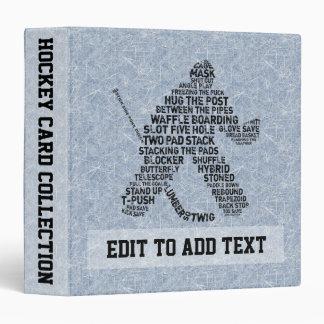 Hockey Goalie Trading Card Album, Customizable Binder