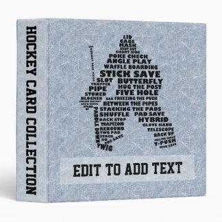 Hockey Goalie Typography Card Album, Customizable Vinyl Binder
