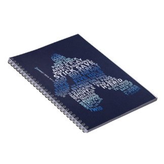 Hockey Goalie Typography Notebook