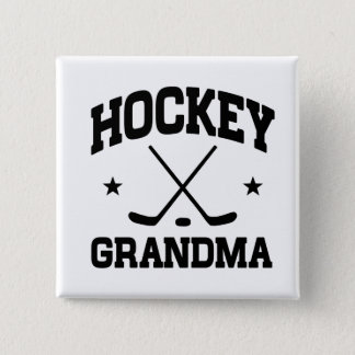 Hockey Grandma 2 Inch Square Button