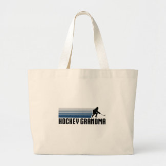 Hockey Grandma Large Tote Bag