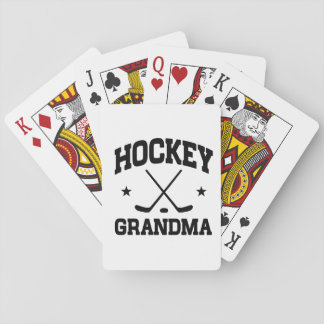 Hockey Grandma Playing Cards