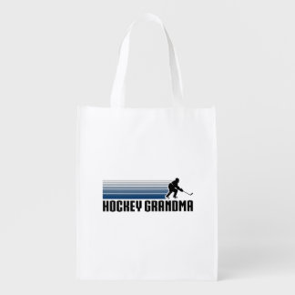 Hockey Grandma Reusable Grocery Bags