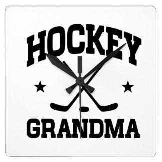 Hockey Grandma Square Wall Clock