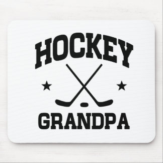 Hockey Grandpa Mouse Pad