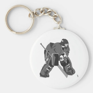 Hockey gris de gardien de but porte-clefs