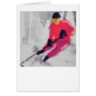 Hockey, He Shoots and Scores Art Card
