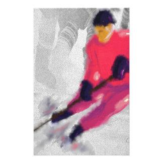 Hockey, He Shoots and Scores Art Customized Stationery