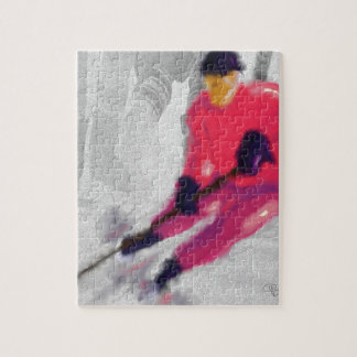 Hockey, He Shoots and Scores Art Jigsaw Puzzle