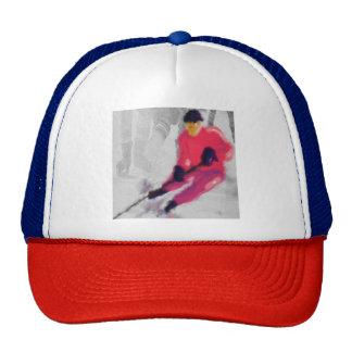 Hockey, He Shoots and Scores Art Trucker Hat
