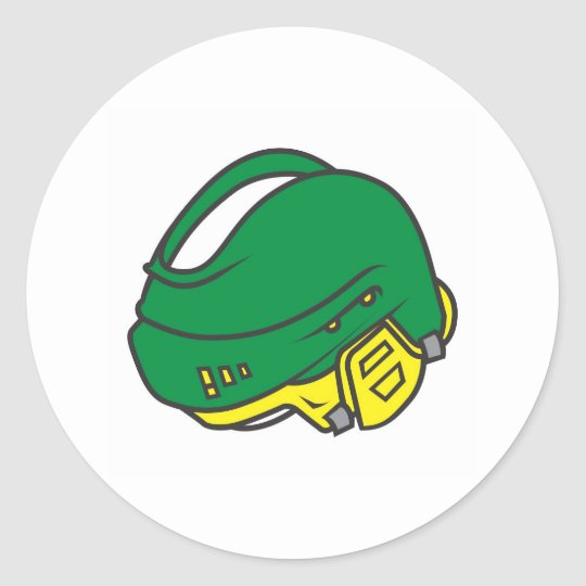 Hockey Helmets Classic Round Sticker