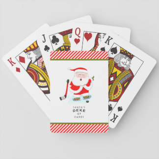 hockey holiday gift playing cards