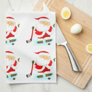 hockey holiday gifts kitchen towel