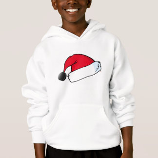Hockey Holidays Santa Hat Hoodie - Youth