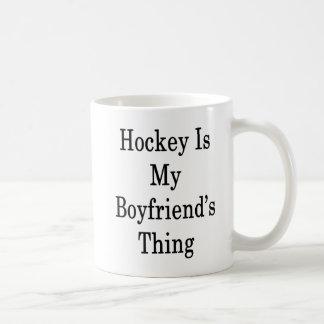 Hockey Is My Boyfriend's Thing Coffee Mug
