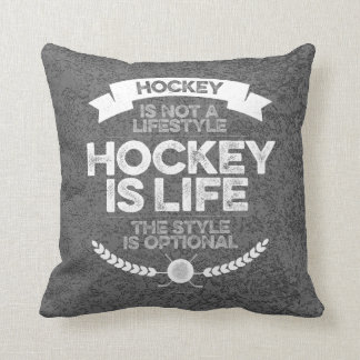 Hockey Is Not A Lifestyle Throw Pillow
