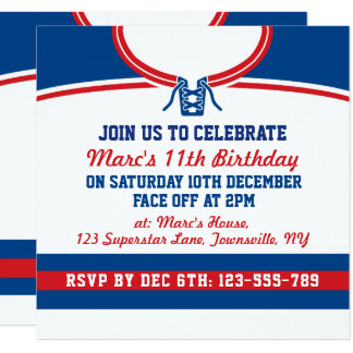 Hockey Birthday Invitations Announcements Zazzle Canada