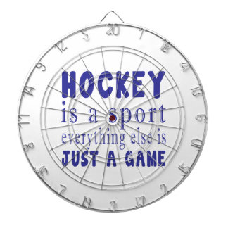 HOCKEY JUST A GAME DARTBOARD WITH DARTS