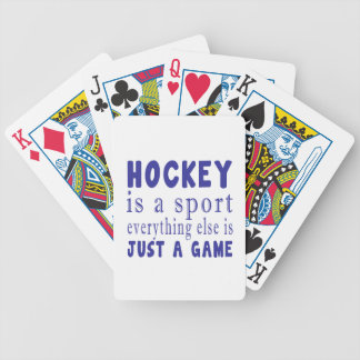 HOCKEY JUST A GAME POKER DECK