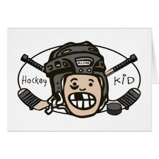 Hockey Kid Black Greeting Card