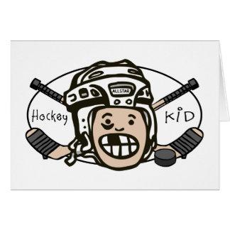Hockey Kid Greeting Card