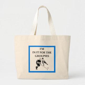 hockey large tote bag