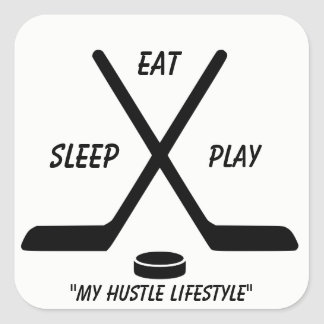 HOCKEY LIFE SQUARE STICKER