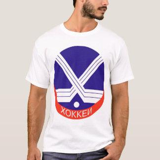 Hockey Logo in Russian T-Shirt